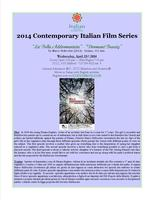 "Contemporary Italian Film Series: ""La Bella..."