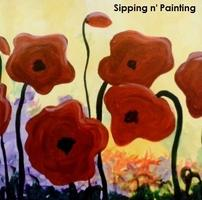 Sip n' Paint Popping Poppies Saturday, July 12th,...