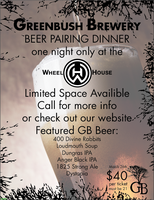 Greenbush Brewery Beer Pairing Dinner