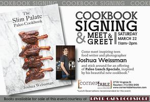 The Slim Palate Paleo Cookbook Signing Corner Table -...