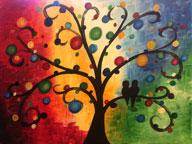 Tree of Circles - Color Me Mine - 4-18-14
