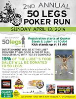 2nd Annual 50 Legs Motorcycle Run and Concert w/...