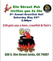 Elm St. Pubs 5th Annual Crawfish Boil