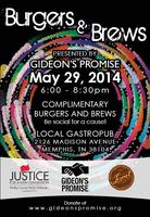 Gideon's Promise Presents Memphis Burgers and Brews