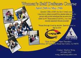 Women's Self Defense Course April 24th - May 29th, 2014
