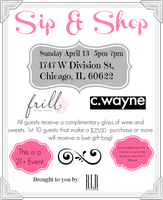 Sip and Shop with Frill Boutique