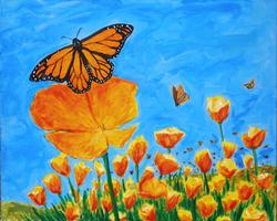 Pa'ina Paint Club - Monarchs and Poppies