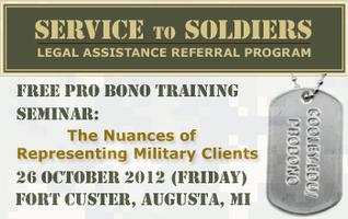 Service to Soldiers Pro Bono Training Event