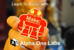 Maker Faire Learn to Solder Area Training session #1