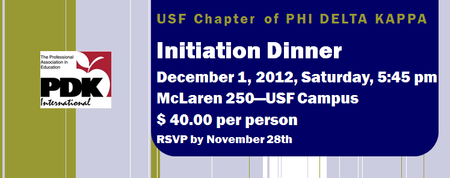 PDK Fall 2012 Initiation Dinner