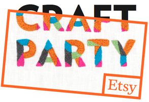 Etsy 2014 Craft Party- Vintage and Vino