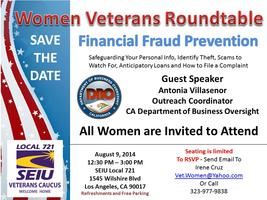 Women Veterans Roundtable - Financial Fraud Protection