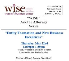 """WISE"" Ask the Attorneys Series: Entity Formation &..."