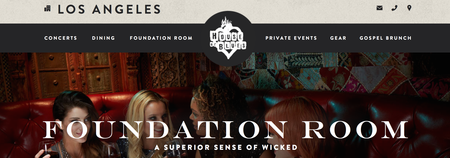 The Wellspring @ the House of Blues - Foundation Room