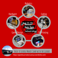 Back to School Maker Camp with the Geekbus