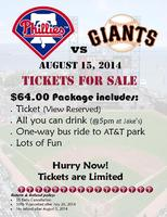 (ONLY Couple tickets left) 2014 PHILLIES VS. GIANTS...