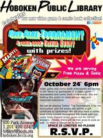 Hoboken Library Adult Video Game Tournament and Comic B...