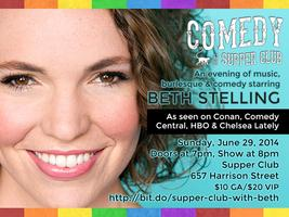 Comedy at The Supper Club with Beth Stelling