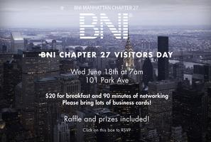 BNI 27: Business Before Breakfast Visitor's Day!