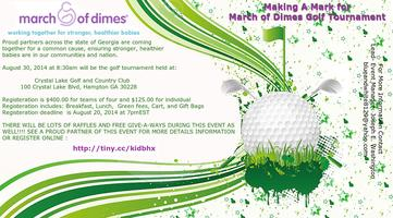 Making a Mark for MarchofDimes Golf Tournament