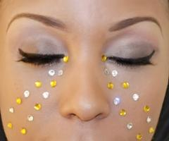 Exotic Carnival Makeup for NY Labor Day Carnival 2014