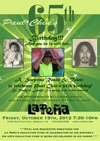 Paul Chin's 65th Birthday! A Fall Fundraising event...