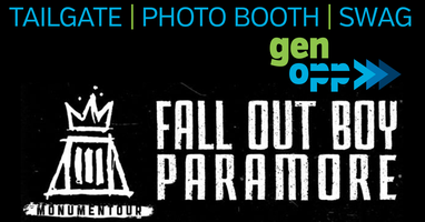 GenOpp Party Booth at Fall Out Boy & Paramore Concert