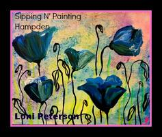 Art Wine Denver Blue Poppies Sat 3pm Aug 2nd $40