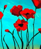 """Creole Canvas - """"Pretty Poppies"""" (Sold Out)"""