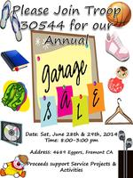 """Girl Scout Troop 30544 Annual Garage Sale"