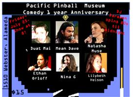Collisions and Comedy at the Pacific Pinball Museum