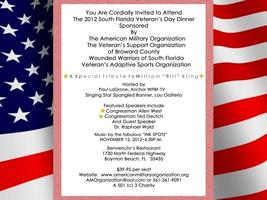 14th Annual South Florida Veteran's Day Dinner
