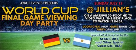 World Cup BIG Final & Day Party @ Jillian's by Aykut...