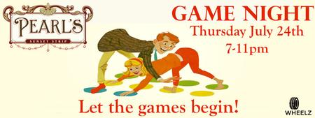 Summer Game Night at Pearl's Liquor Bar
