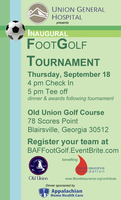 FootGolf Tournament presented by Union General Hospital