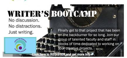 Writers' Boot Camp   Friday, 12/5