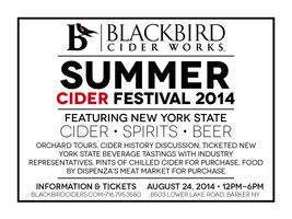 BlackBird Cider Works Summer Cider Festival 2014