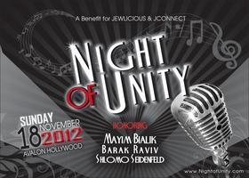 NIGHT OF UNITY - Honoring Mayim Bialik, Barak Raviv,...