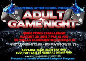 Adult Game Night (Challenge for Charity)