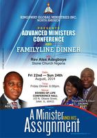 ADVANCED MINISTERS CONFERENCE & FAMILY LINE DINNER.