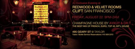 REDWOOD ROOM / CLIFT HOTEL / AYKUT EVENTS