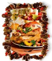 Thanksgiving Buffet with a little Champagne to Celebrat...
