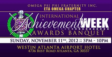 2012 Eta Omega Achievement Week Banquet