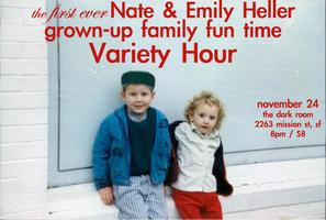Nate and Emily Heller grown-up family fun time Variety...