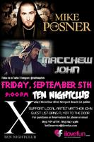 Local Artist MATTHEW JOHN opening for Mike Posner