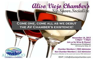 Aliso Viejo Chamber's Sip, Savor Socialize -- Wine and...