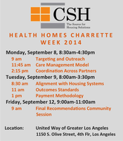 Health Homes Charrette Week (Tue)