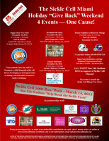 "Sickle Cell Miami Holiday ""Give Back"" Weekend!"