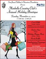 MARBELLA COUNTRY CLUB'S ANNUAL HOLIDAY BOUTIQUE