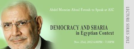 Democracy and Sharia in Egyptian Context